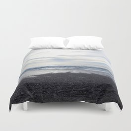 Rodeo Beach with Killer Clouds Duvet Cover