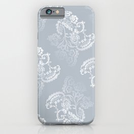 Light blue lace pattern iPhone Case