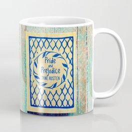 Pride and Prejudice Book in Yellow Coffee Mug
