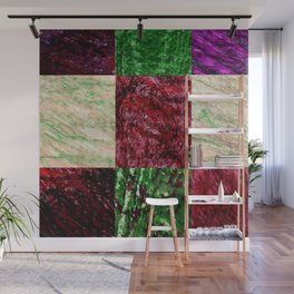 Patchwork color gradient and texture 2 Wall Mural