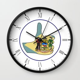 Thumbs Up Delaware Wall Clock