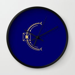 Sacred Geometry Letter C Wall Clock