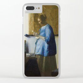 Woman Reading a Letter Clear iPhone Case
