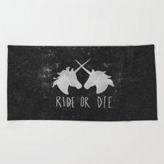 Ride or Die Unicorn Magic Beach Towel