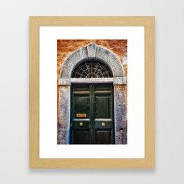 Romenesque, Roman Door, Rome, Italy Framed Art Print