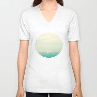 faith V-neck T-shirts featuring faith by Lisa Argyropoulos