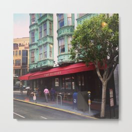 Cafe Zoetrope - City of San Francisco Metal Print
