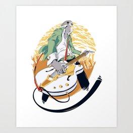 GRETSCH - White Falcon Art Print