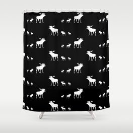 little big moose pattern Shower Curtain