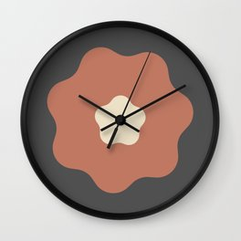 Large Pink Bloom Wall Clock