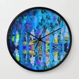 Peeking Through The Pursuit of Happiness a Mesmerizing Experience by annmariescreations Wall Clock