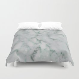 Ariana verde - smoky teal marble Duvet Cover