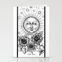 tarot Stationery Cards featuring Sun Tarot by Corinne Elyse