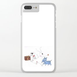 3 Dead Dogs Clear iPhone Case