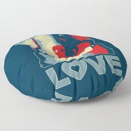 Golden Retriever - Love Floor Pillow