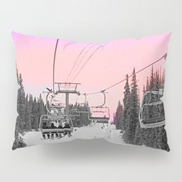 Ski Lift Sunset Shot on iPhone 4 Pillow Sham