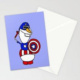 Olaf As A Superhero  Stationery Cards