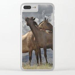 Montana Horses near Glacier National Park Clear iPhone Case