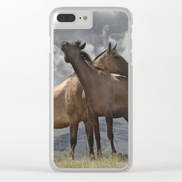 Montana Horses near Glacier National Park Clear iPhone Case