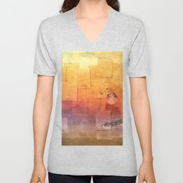 Moon Over Inchkeith v2 Unisex V-Neck