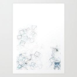 square fantasy shattered glass Art Print
