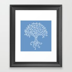 Tree of Life Blue Framed Art Print