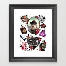 Gravity Falls Tattoos Framed Art Print
