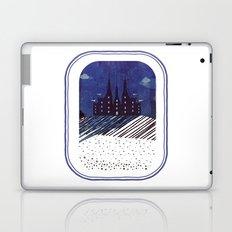 Castle on the hill (snowy night) Laptop & iPad Skin