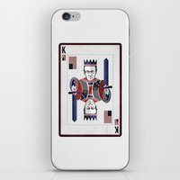 house of cards iPhone & iPod Skins featuring House of cards Playing card  by Lewys Williams