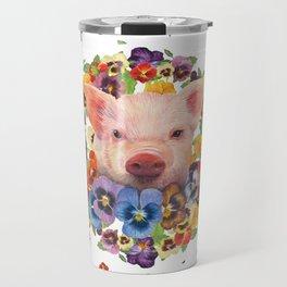 Pansy Pig Travel Mug