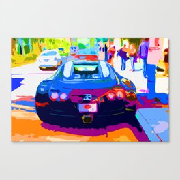 Bugatti Veyron On Rodeo  Canvas Print