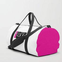 I Love Music Quote Duffle Bag