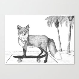 Bandito Fox Skate Canvas Print