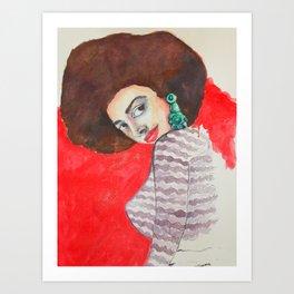 mirada Art Print