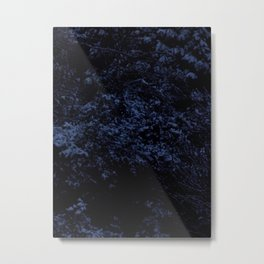 Cold Shrubbery Metal Print