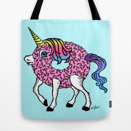 Unicorn Donut Blue Tote Bag