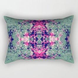 Honares - Abstract Boho Chic Tie-Dye Style Mandala Art Rectangular Pillow