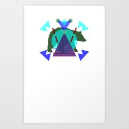 Pol∆r Kolors Art Print