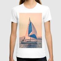 racing T-shirts featuring  Yacht racing by Svetlana Korneliuk