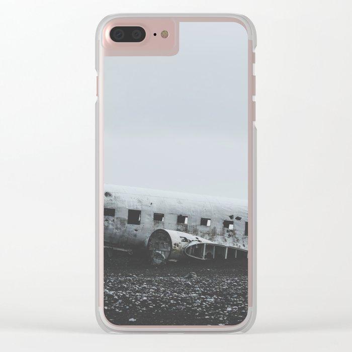 Sólheimasandur Plane Wreck, Iceland Clear iPhone Case