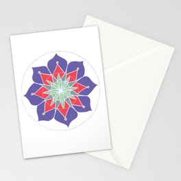 Purple Merrymaking Mandala Stationery Cards