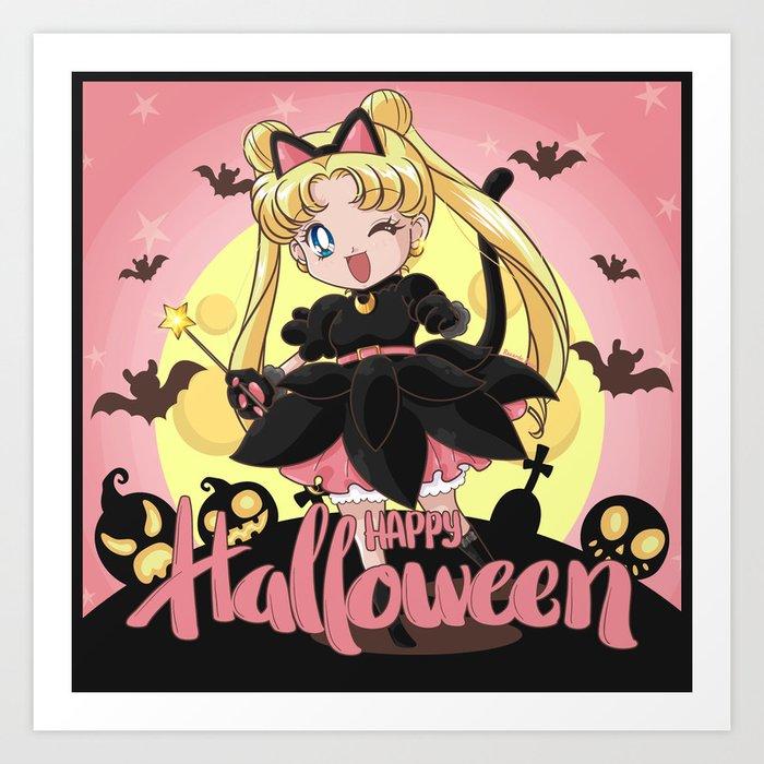 Happy Halloween Usagi Art Print by trigun29