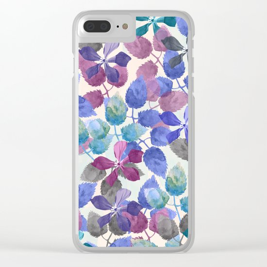 watercolor Botanical garden II Clear iPhone Case