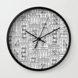 New York Hand Drawn Illustration Wall Clock