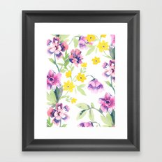 Garden Journal Framed Art Print