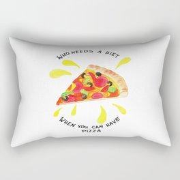 pizza is the best Rectangular Pillow