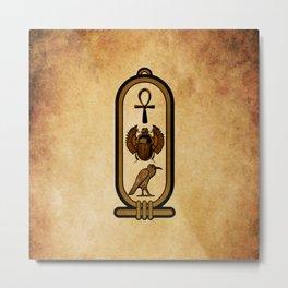 Egyptian cartouche Metal Print