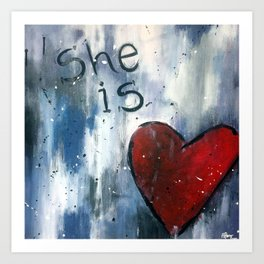 She is Love Art Print