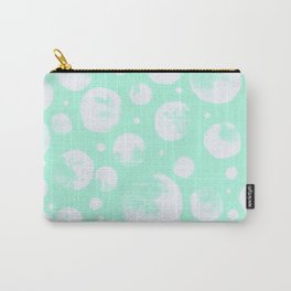 Snowballs-Light turquoise backgroud Carry-All Pouch