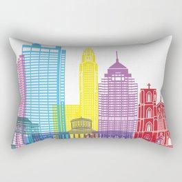 Columbus skyline pop Rectangular Pillow